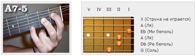 Аккорды (A) - Аппликатуры гитарных аккордов. Септаккорды