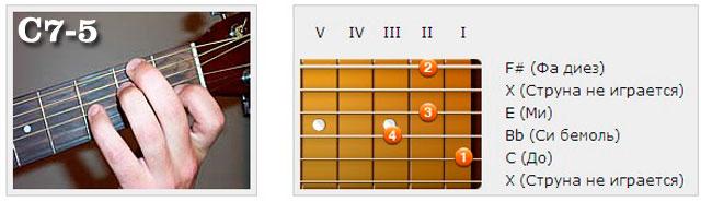 Аккорды (C) - Аппликатуры гитарных аккордов. Септаккорды
