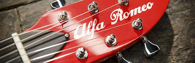 Alfa Romeo совместно с Harrison Custom Guitar Works выпустили стилизованную партию электрогитар приуроченную к 104-й годовщине со дня основания компании