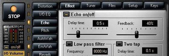 Guitar FX Box 2.7 - программный гитарный процессор с низкими I/O задержками в реальном времени, процессор с отличными эффектами высокого качества.