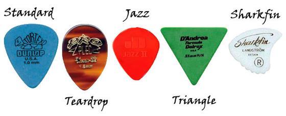 Как выбрать медиатор для гитары?